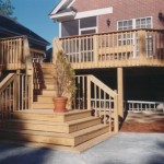 Deck and 45 Deg steps